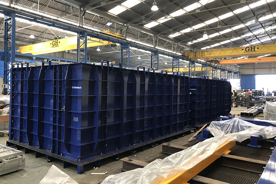 Modular mould for wet cast box culverts in Northern Ireland