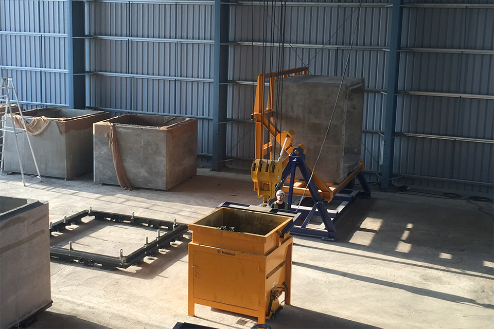 MT20 dry cast box culvert equipment in India