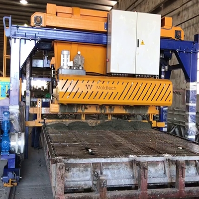 AUTOMATIC MACHINES FOR PRODUCTION CHAIN OF PRECAST PANELS