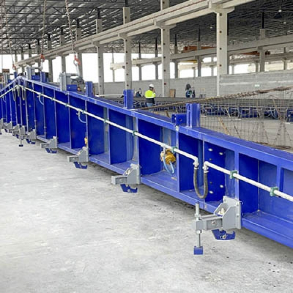 _WE SUPPLIED A UNIVERSAL PRESTRESSING BED SYSTEM OF 1000 TONS IN MEXICO_